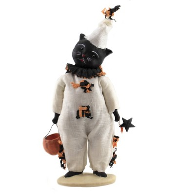 "Dee Foust-Harvey 11.75"" Kamden's Kitty Star Clown Pumpkin Halloween  -  Decorative Figurines"