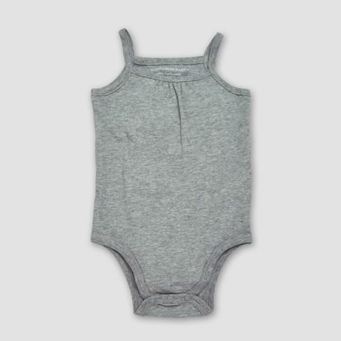 039752ff2 Burt's Bees Baby® Girls' Organic Cotton 6pc Camisole Bodysuit Set - Heather  Gray/Blossom