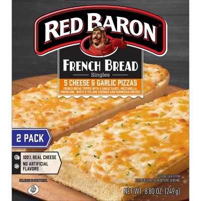 Red Baron French Bread Five Cheese & Garlic Frozen Pizza - 8.8oz/2pk