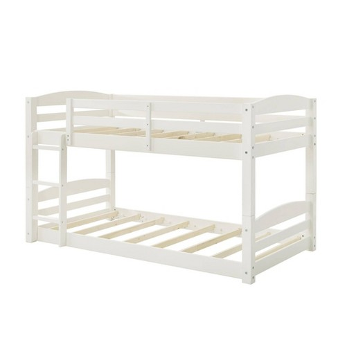 Twin Bertha Bunk Bed White - Dorel Living - image 1 of 4