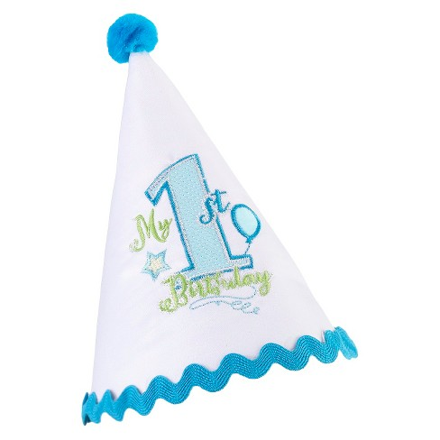 Baby's First Birthday Cap - Blue - image 1 of 2