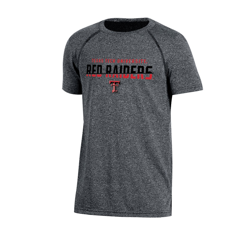 Texas Tech Red Raiders Boys Short Sleeve Crew Neck Raglan Performance T-Shirt - Gray Heather XS, Multicolored