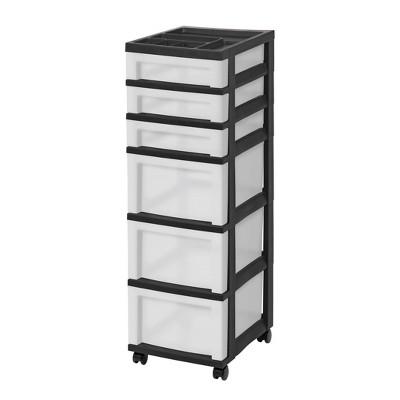IRIS 6 Drawer Storage Cart with Organizer Top