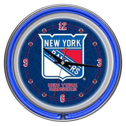 New York Rangers Neon Wall Clock - image 1 of 1