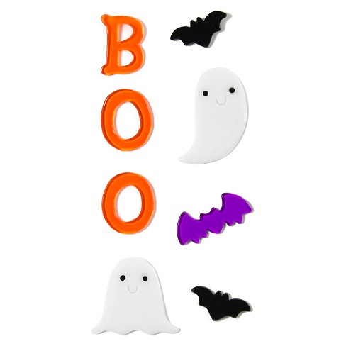 Halloween Boo/Cat Gel Clings 5.5x12 - image 1 of 2