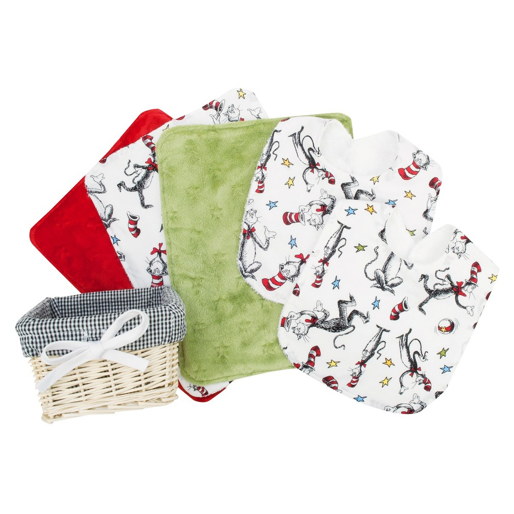 Trend Lab 7pc Baby Gift Basket - Dr. Seuss Cat in the Hat, Red
