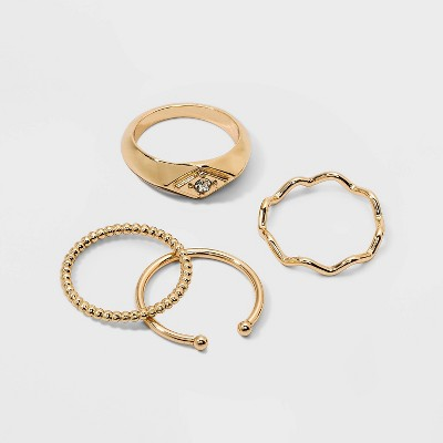 Marquis Shape Stacking Ring Set - A New Day™ Gold