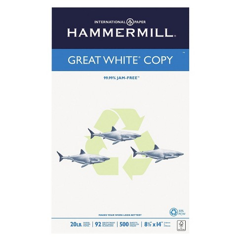 "Hammermill® Unruled Recycled Copy Paper, 8.5"" x 14"", 500pk - White - image 1 of 3"