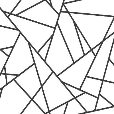 "RoomMates 28.2"" Fracture P&S Wallpaper Black/White"