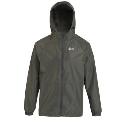 Sierra Designs Adult Packable Rain Jacket Gray - M/L