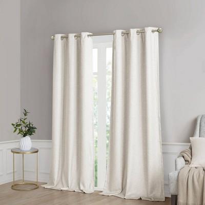 Set of 2 Aberdeen Faux Silk Blackout Curtain Panels