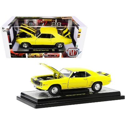 1969 Chevrolet Camaro Z/28 Daytona Yellow with Black Stripes Limited Edition to 6500 pcs 1/24 Diecast Model Car by M2 Machines
