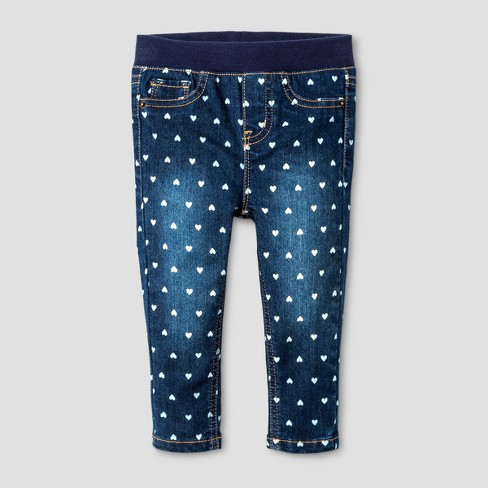 Toddler Girls' Jeggings - Cat & Jack™ Dark Blue - image 1 of 2
