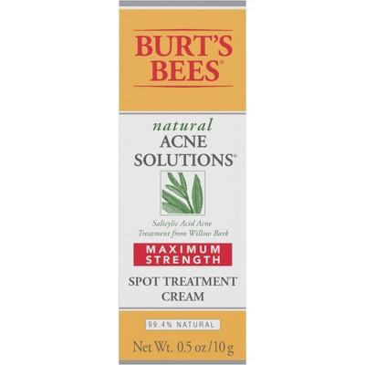 Burt's Bees Natural Acne Solutions Maximum Strength Spot Treatment Cream - 0.5 oz