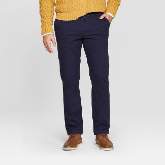 Mens Athletic Fit Hennepin Chino Pants - Goodfellow & Co™ Navy 32x34