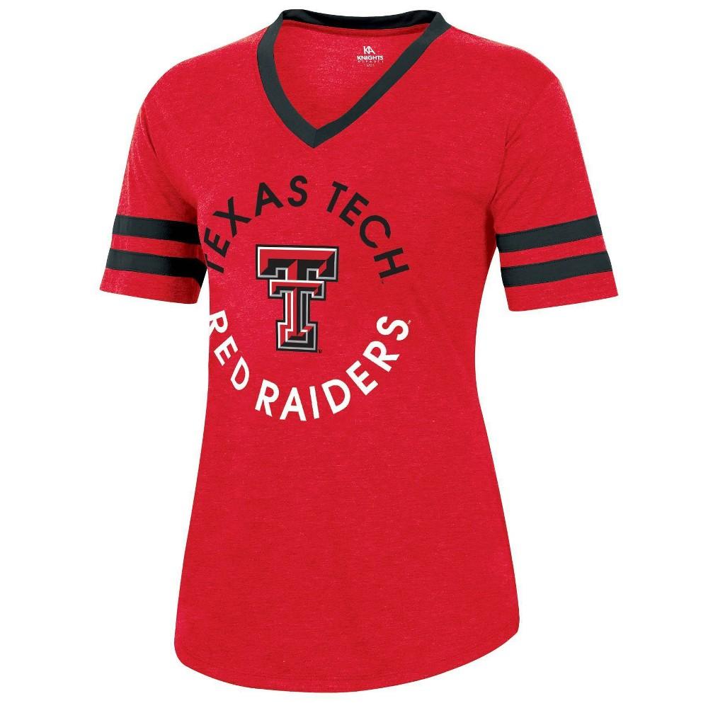 Ncaa Texas Tech Red Raiders Women 39 S Short Sleeve V Neck Heathered T Shirt M