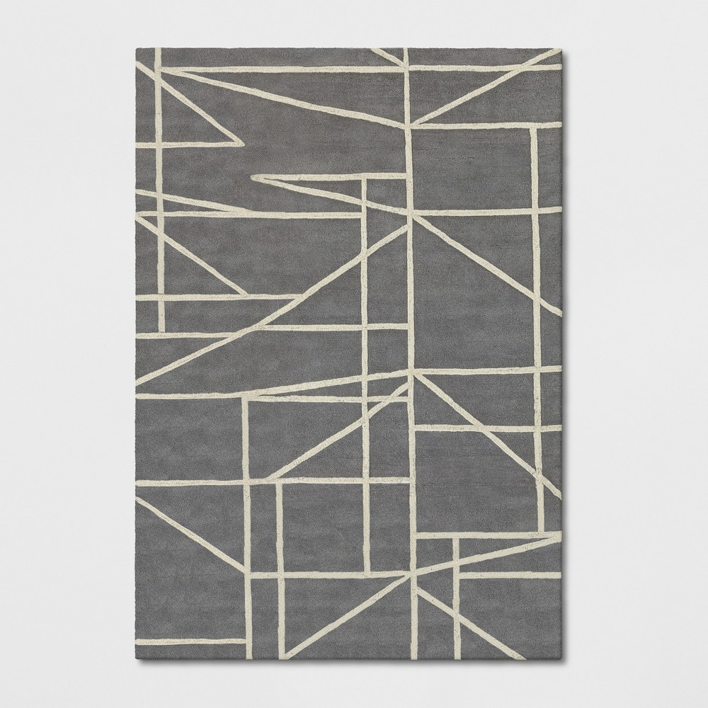 7'X10' Geometric Tufted Area Rugs Gray - Project 62