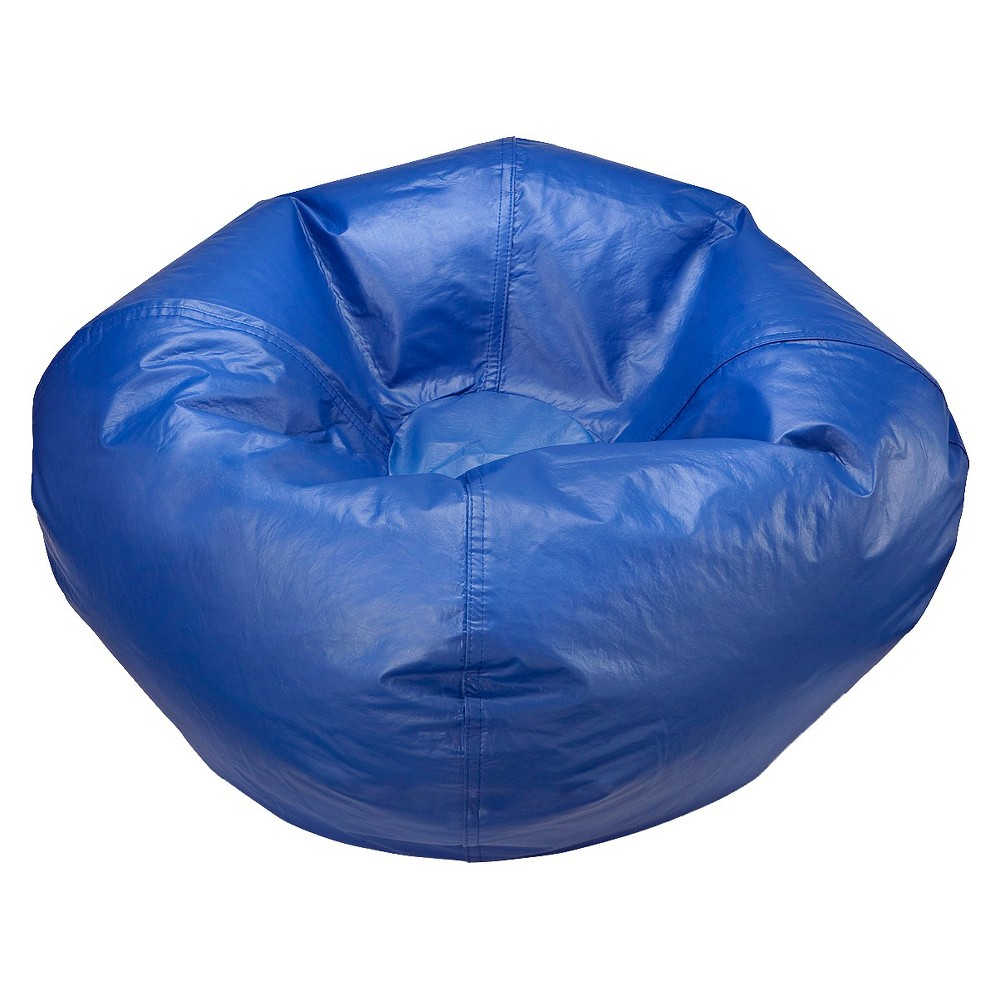Image of Bean Bag Chair - Matte Stadium Blue - Ace Bayou, Medium Blue