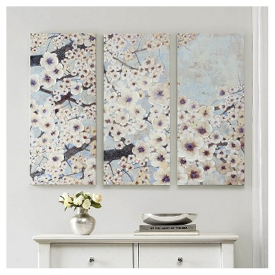Norm Wyatt Jr Printed Canvas With Hand Embellishment 3 Piece Set