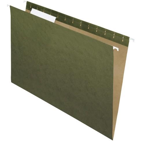 School Smart Hanging File Folders, Legal, 1/3 Cut Tabs, Green, pk of 25 - image 1 of 1