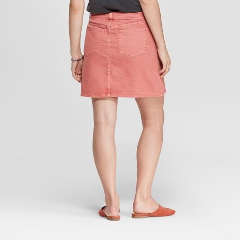 8aedf7bf05 Women's Colored Denim Mini Skirt - Universal Thread™ Pink 16 : Target
