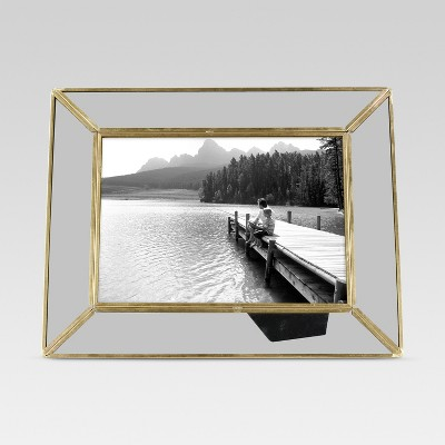 Single Picture Frame 5X7 Brass - Threshold™