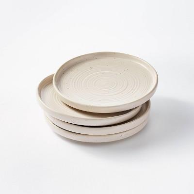 "8.5"" 4pk Stoneware Glazed Salad Plates Cream - Threshold™ designed with Studio McGee"