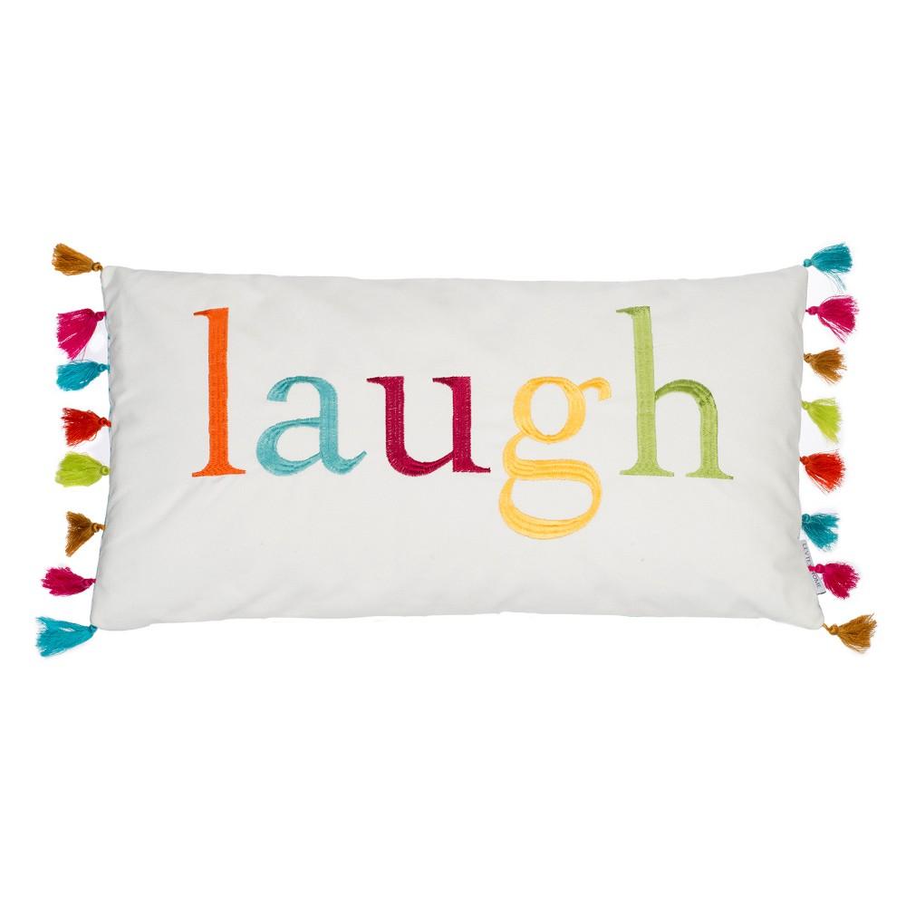 Image of 12x24 Jorja Tassels Pillow White - Homthreads