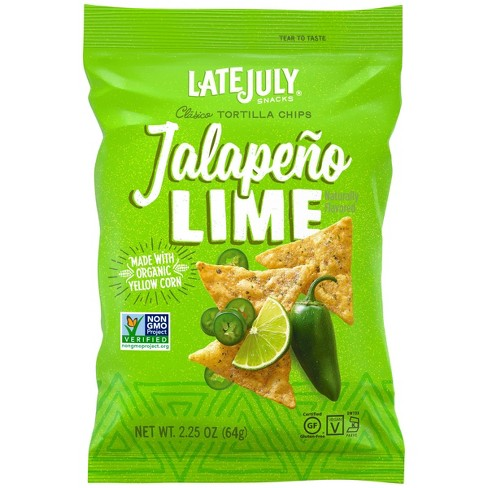 Late July Jalapeno Lime Clasico Tortilla Chips - 2.25oz - image 1 of 4