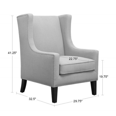 Colette Wing Chair Linen