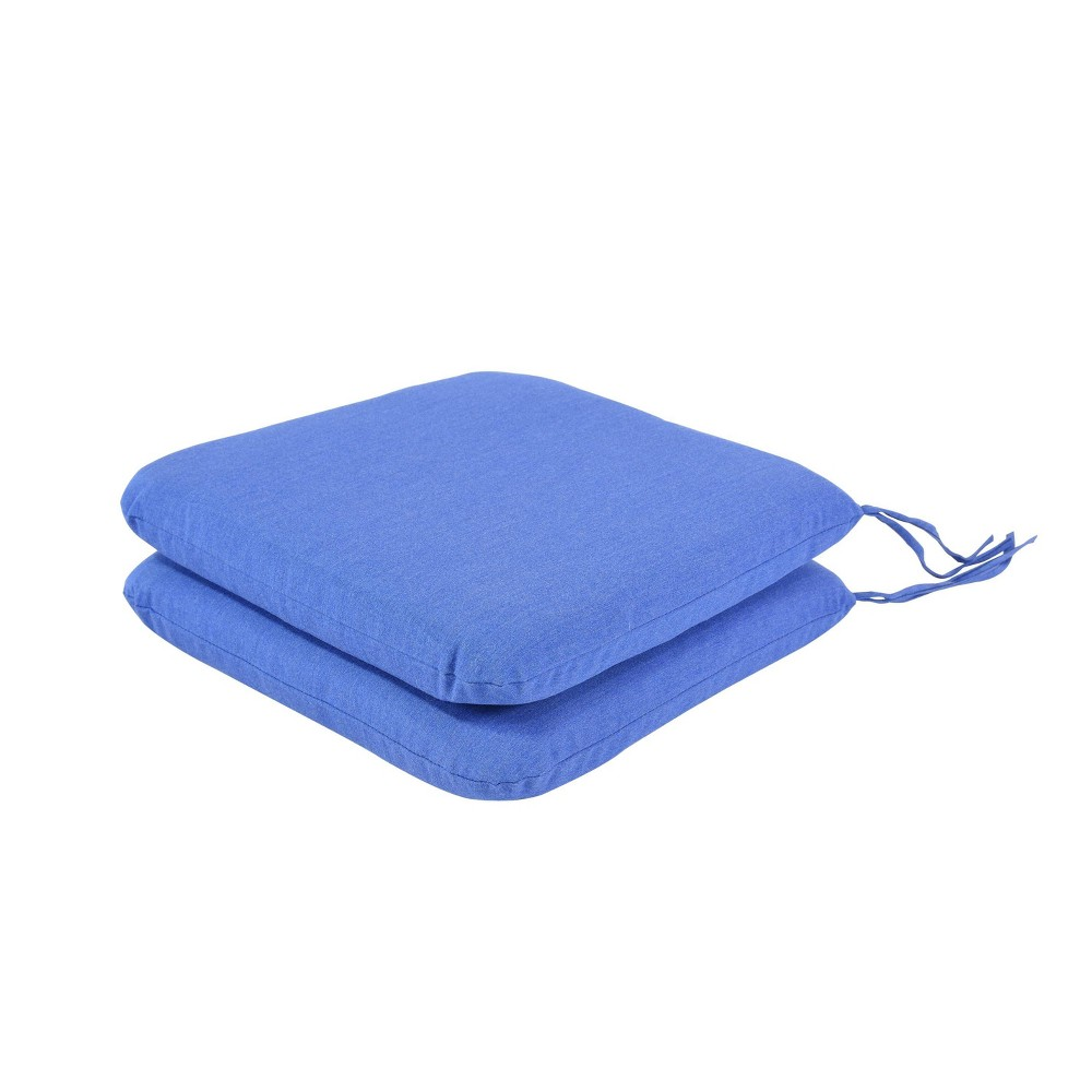 Image of 2pk Pacifica Premium Outdoor Seat Pad Blue - Astella