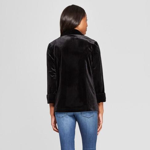 fcce33f48f79 Women s Long Sleeve Velvet Blazer - Xhilaration™ Black XS   Target