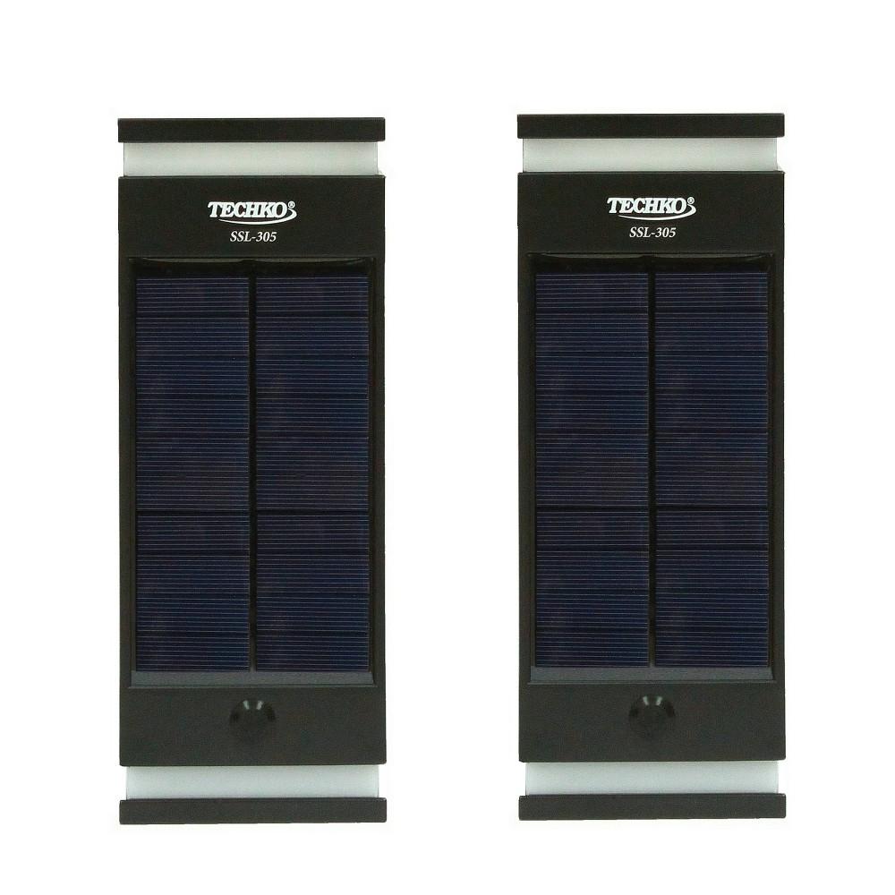 Image of Solar LED Outdoor Wall Lights - Techko