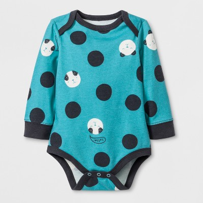Baby Boys' Long Sleeve Bodysuit with Critter Print All Over - Cat & Jack™ Blue 3-6M