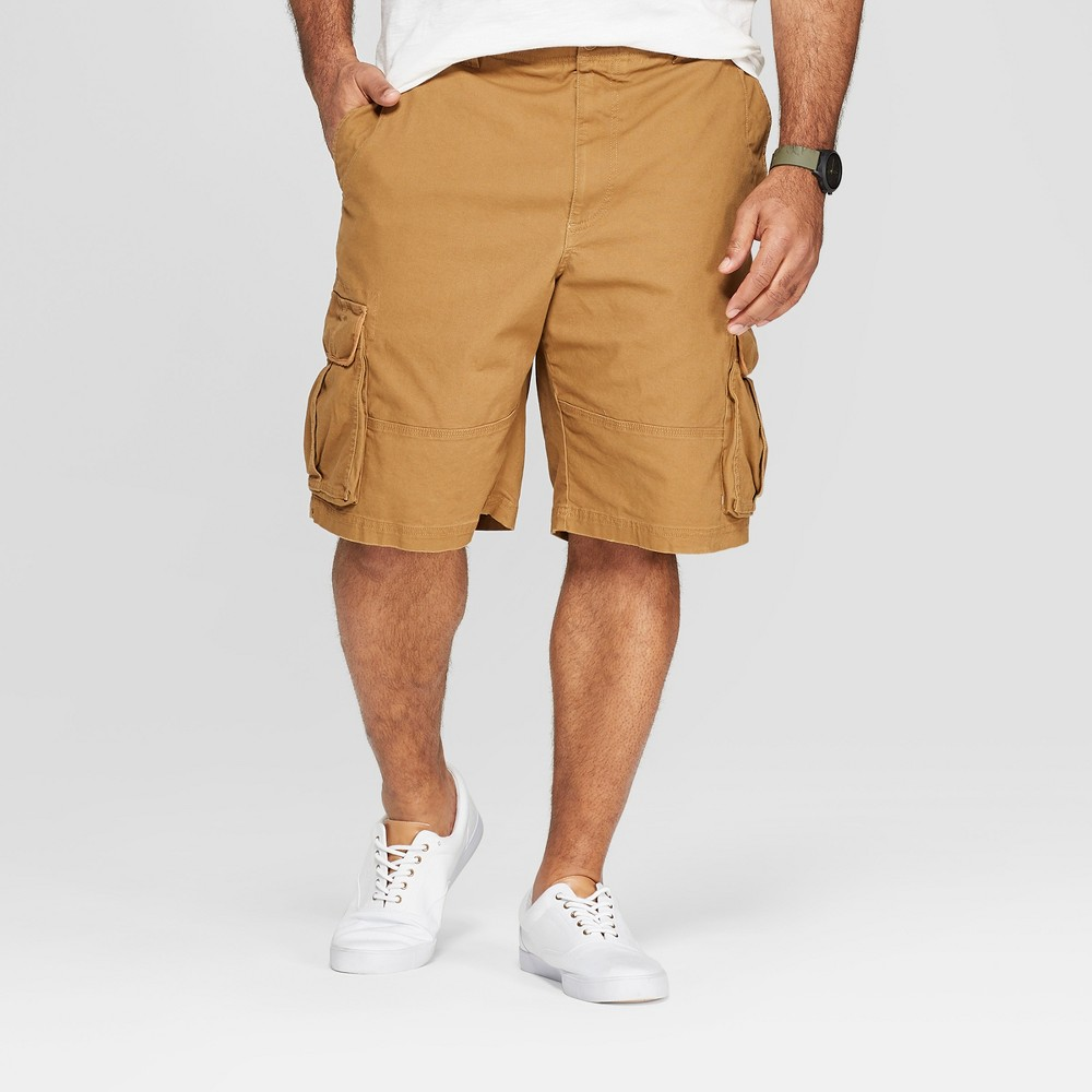 Men's Big & Tall 11 Cargo Shorts - Goodfellow & Co Brown 50