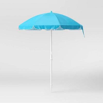 6' Beach Sand Umbrella - Blue - Sun Squad™