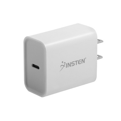 Insten 18W USB-C PD Power Delivery Fast Charger Wall AC Adapter for iPhone 12 Pro 12 Pro Max 12 11 XS SE 2020, iPad, Cell phones, Tablets, White