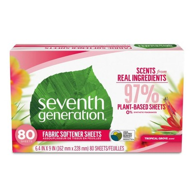 Seventh Generation Fabric Sheets - Tropical Grove - 80ct
