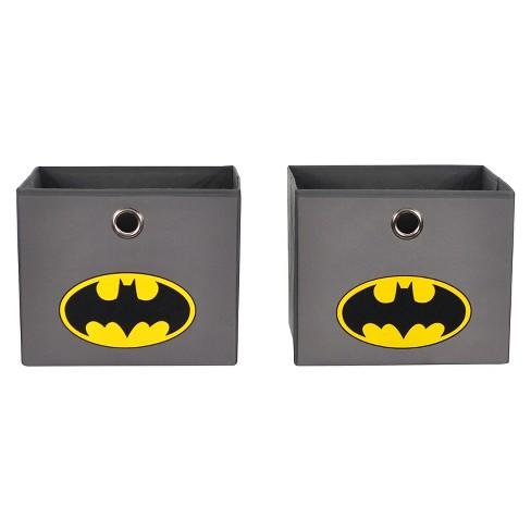 Batman Closet Hanging Organizer With Storage Bins Gray