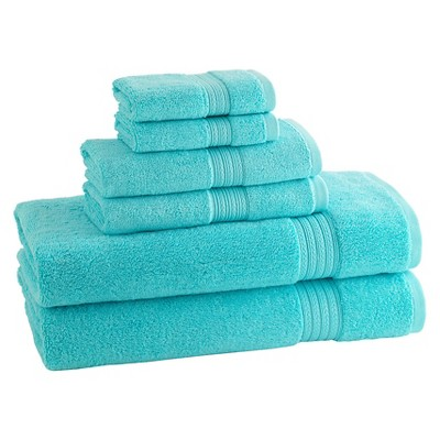 Kassatex Kassadesign Brights Towel Set of 6 - Caribbean Blue