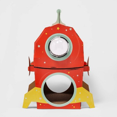 Retro Spaceship Cat Scratcher with bubble - Boots & Barkley™