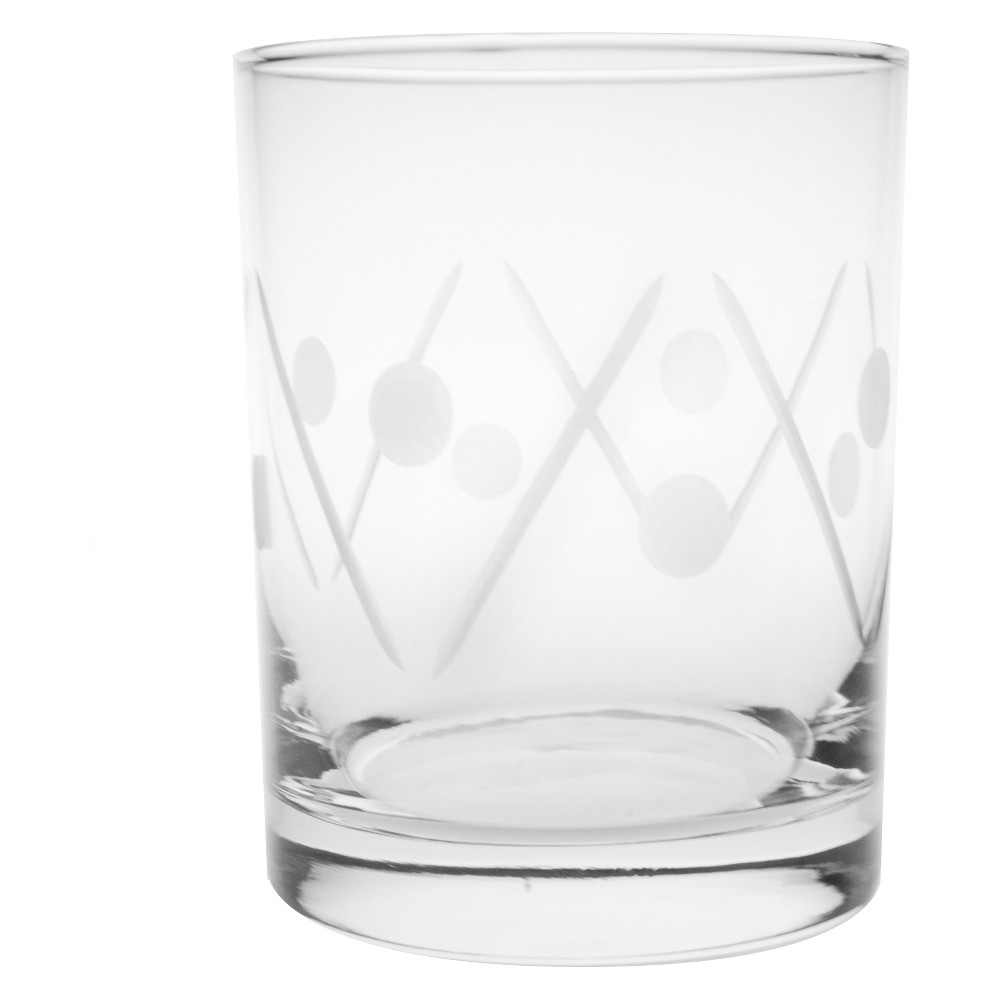 Image of 14oz 4pk Shimmy Double Old-Fashioned Glasses - Rolf Glass, Clear