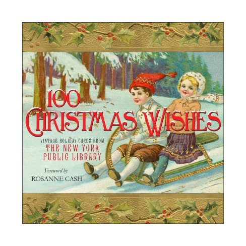 100 christmas wishes vintage holiday cards from the new york public library hardcover - Target Photo Christmas Cards