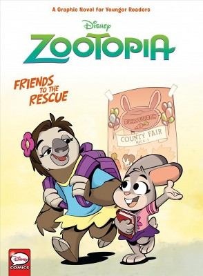 Disney Zootopia: Friends to the Rescue (Younger Readers Graphic Novel) - (Hardcover)