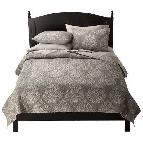 Hope Medallion Quilt Set (Queen) 3 Piece Gray - Mudhut™ - image 1 of 2