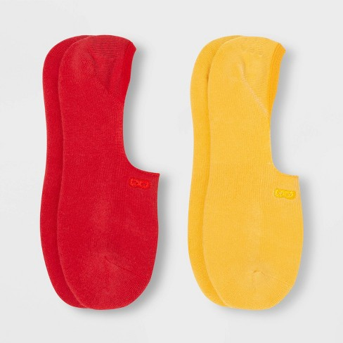 Pair of Thieves Men's Cushion No Show Socks 2pk - Red 8-12 - image 1 of 2