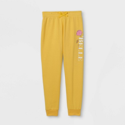 Girls' Disney Belle Jogger Pants - Yellow