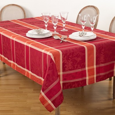 Plaid Design Tablecloth - Saro Lifestyle