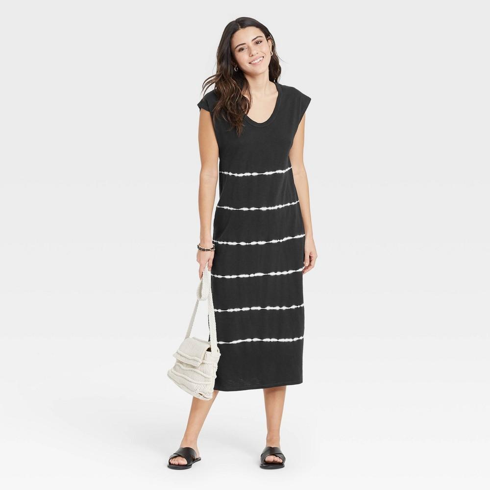 Women 39 S Dip Dye Sleeveless Knit Dress Universal Thread 8482 Dark Gray S