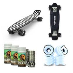 """Fathom by Shark Wheel 22"""" Skateboard w/70MM Wheel Set w/Bearings 8 Piece Package"""